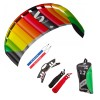 HQ Lenkmatte Symphony Pro 2.2 Rainbow Bundle R2F Allround Lenkdrachen Kite