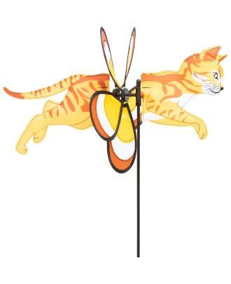 HQ Windspiel SPIN CRITTER Kittycat Katze mit Windblume als Gartendekoration