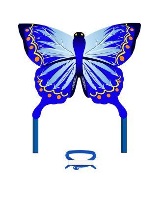 Kinderdrachen Einleiner Butterfly Kite Indigo Schmetterling HQ Drachen
