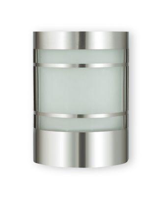 Wandleuchte ohne Bewegungsmelder Edelstahl Wandlampe Außenlampe Gartenlampe Außen-Wandleuchte mit Echtglas