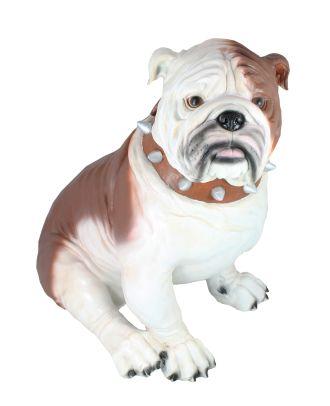 Dekofigur Hund englische Bulldogge Max Tierfigur Gartenfigur Deko Hund Dogge Figuren
