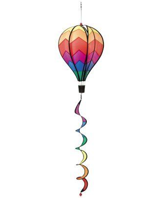 HQ Windspiel Hot Air Balloon Twist Sunrise Garten Dekoration