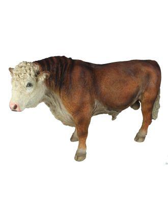 Figur Ochse Bulle Stier XL Tierfigur Gartenfigur Bauernhof Tier Kuh Gartendeko