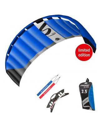HQ Lenkmatte Symphony Pro 2.5 Neon Blue Kite Limited Edition R2F Allround Lenkdrachen Kite