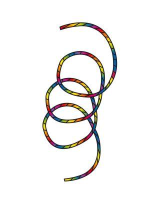 Drachenschwanz Tube Tail Rainbow Spiral 24 m Drachenschwanz HQ Drachenzubehör Leinenschmuck