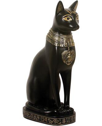 Dekofigur Ägyptische Katze Bastet Göttin der Fruchtbarkeit sehr edel verarbeitet
