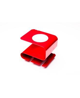 Weinregal Flaschenhalter Flaschenregal Glashalter Metall rot Barzubehör