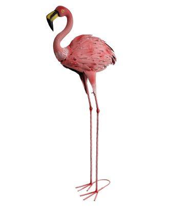 Dekofigur Flamingo Teichfigur Metallfigur Gartendeko Teich Fischteich