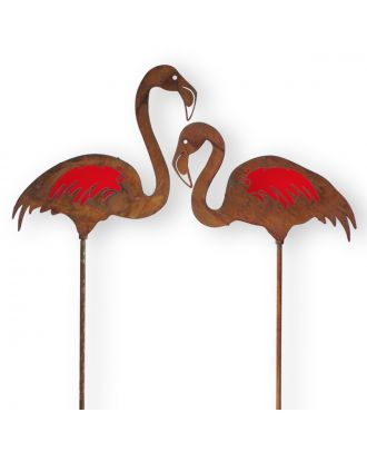 Gartenstecker Rost Flamingo Figuren 2 Stück Rost Deko Gartenstecker Deko Flamingo