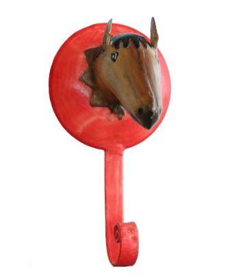 Garderobenhaken Metall Pferd Kleiderhaken Wandhaken Garderobe Serie Farm
