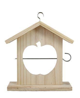 Apfel-Futterhäuschen zum Vögel füttern Meisenknödelhalter Vogelfutterhaus