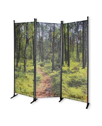 Paravent mit Fotodruck WALD Spanische Wand Raumteiler Trennwand Zimmer