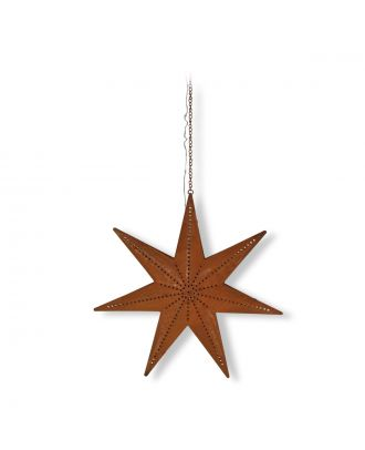 LED Metallstern Deko Stern beleuchtet Edelrost Weihnachtsstern beleuchtet für außen