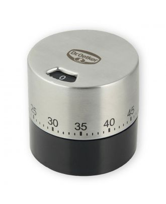 Dr. Oetker Kurzzeitmesser Timer 60 Minuten Edelstahl Küchentimer ohne Batterien