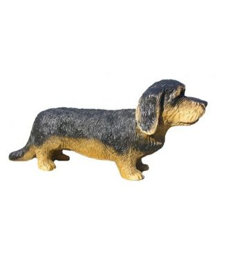 "Dekofigur Hund Unser Rauhaardackel ""Zencie""  Gartendeko Tierdeko groß"