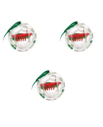 Weihnachtskugel mit 3 x HEXBUG Nano Christmas Roboter Weihnachts Kugel