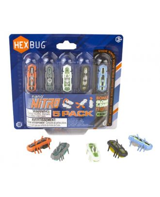 HEXBUG Nano Nitro 5-Pack 415-4574 Speed Krabbeltiere Insekt Micro Roboter