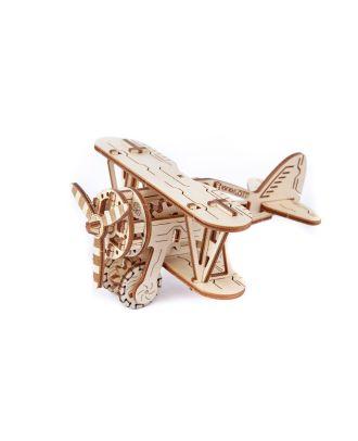 Woodencity Biplane Flugzeug Holzmodell Bausatz Dekoration