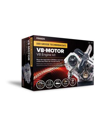 Franzis V8-Motor Motorbausatz Bausatz Motormodell Funktionsmodell