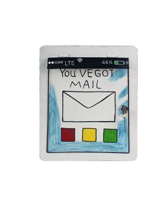 """Briefkasten Tablet """"You got Mail"""" aus Metall weiß Postkasten Postfach"""