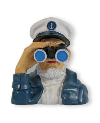 Seemann Figur Kapitän mit Fernglas maritime Deko für draußen