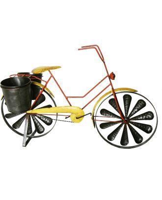 Windspiel Pflanztopf Fahrrad Damenrad Metallwindrad Fahrrad 2 Windräder kugelgelagert