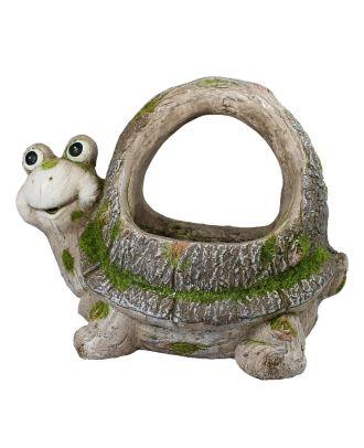 Pflanzkübel Pflanztopf Schildkröte Pflanzgefäß aus Keramik für Garten und Haus