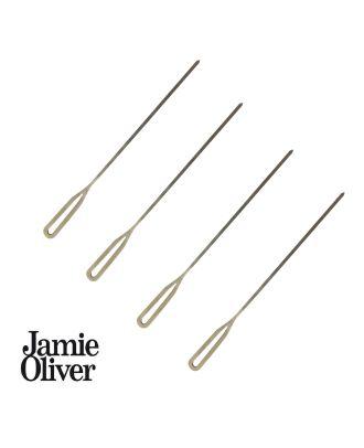 Jamie Oliver XL Grillspieße Edelstahl 40 cm Fleischspieße Schaschlikspieße 4er Set