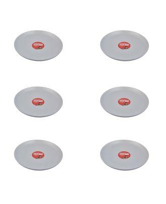 Jamie Oliver Speiseteller 6 Stück Teller Speckle hellgrau 34 cm Essteller Dinner Plates