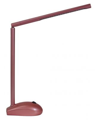 LED Schreibtischlampe pink mit Akku- und Netzbetrieb / USB- Port PC Maus Optik Tisch Lampe
