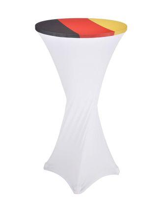 Husse Stehtisch Stehtischhussen Tisch Hussen Bistrotisch Uni Ø60 Deutschland Fahne