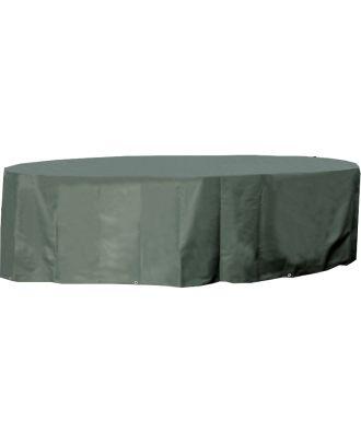 Schutzhülle Premium für Sitzgruppe Tisch und Stuhl grün rund 200x96cm Gartenmöbel