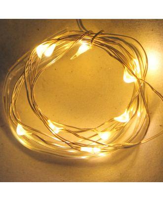 LED-Lichterkette MICRO 4er Set à 10 Leuchten Lichtfarbe warmweiß inkl. Batterien und Batterie-Ersatz