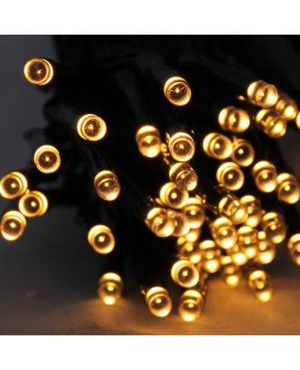 LED Lichterkette mit 96 Leuchten warmweiß Batteriebetrieb Timerfunktion Weihnachtsbeleuchtung für Innen