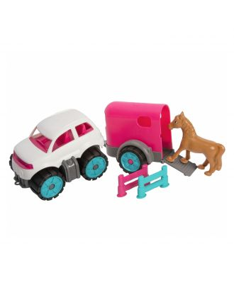 BIG Power-Worker Mini Ponytransporter-Set Pferdetransporter