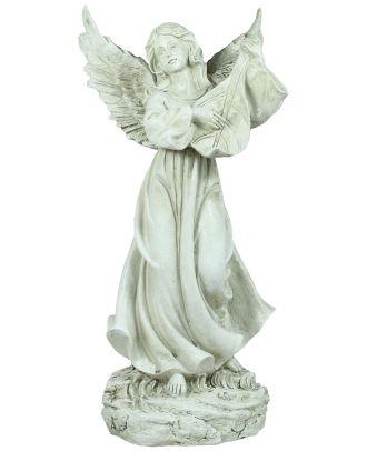 Deko-Engel Engelsfigur Laute spielender Engel Grabengel Grabschmuck