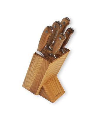 Messerblock mit Messer Messerblock Holz mit Edelstahl Messer Tescoma Feelwood