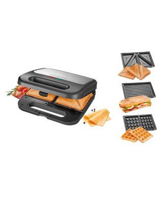 Sandwichmaker 3 in 1 Sandwichtoaster Waffelautomat Paninimaker Tescoma President