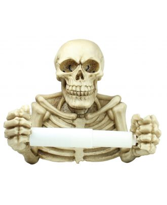 Toilettenpapierhalter Totenkopf Skelett Abroller für Klopapierhalter WC Abroller