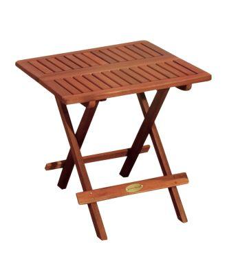 Beistelltisch Klapptisch LOS ANGELES Gartentisch Ablagetisch Tisch Holz Eukalyptus FSC 100%