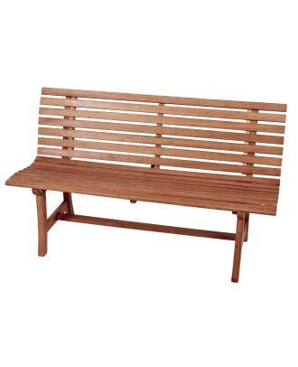 Parkbank Gartenbank MORENO 3-Sitzer Länge 140 cm Sitzbank Holz Eukalyptus