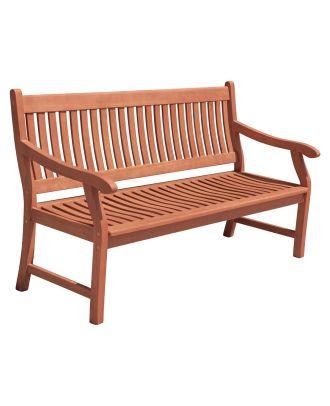 Gartenbank NEW JERSEY 3-Sitzer ergonomisch geformt Sitzbank Holz Eukalyptus