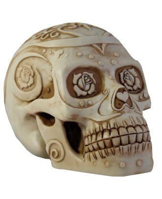 Dekofigur Totenkopf Schädel Rose Mystic Gothic Wohnung Dekoration