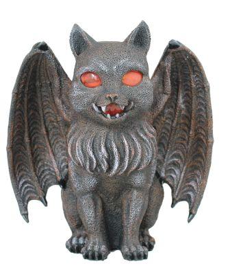 Dekofigur Fantasy Katze mit Teelicht Windlicht Kerzenhalter Gothic Mystery