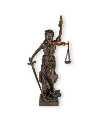 Justitia Figur klein Justitia Statue bronziert Geschenk für Anwalt
