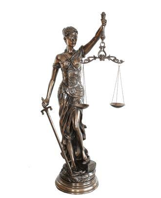 Dekofigur Justitia Göttin der Gerechtigkeit GROß Skulptur bronziert 77cm edel