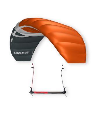 CrossKites Lenkmatte Boarder Orange 2.5 R2F Trainerkite Lenkdrachen mit Bar