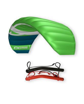 CrossKites Quattro 1.5 Green Lenkmatte Vierleiner Lenkdrachen Kite Flugdrachen R2F