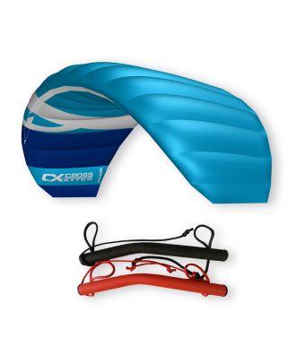 CrossKites Quattro 2.5 Blue Lenkmatte Vierleiner Lenkdrachen Kite Flugdrachen R2F