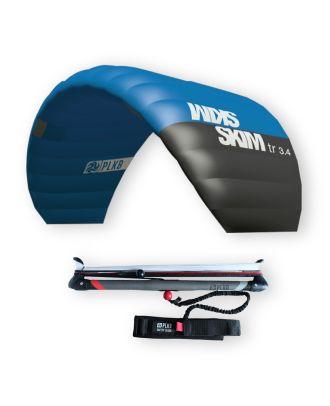 Lenkmatte Peter Lynn Skim 3.4 Lenkdrachen 3-Line Trainerkite Controlbar Safety Leash Wasserstart Bodydrag